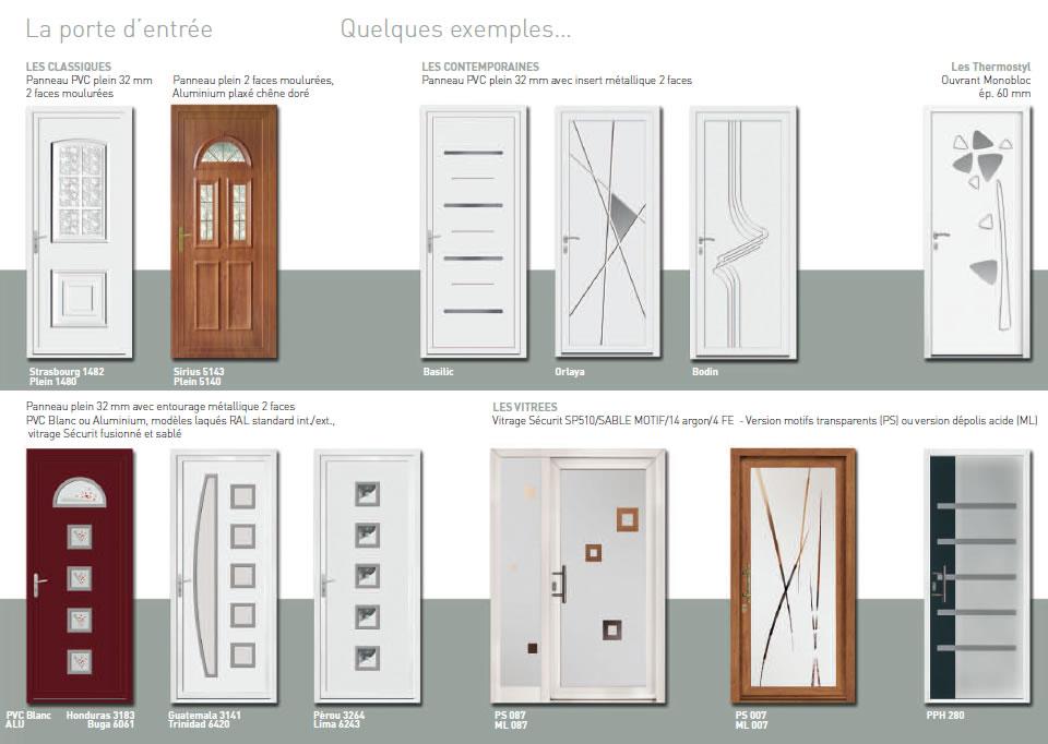 Portes d 39 entr es pvc montpellier innovia menuiseries for Fenetre pvc montpellier
